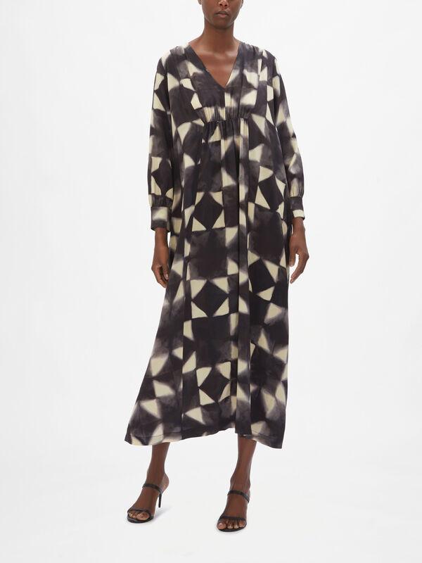 Cleopatra Geometric Shape Maxi Dress