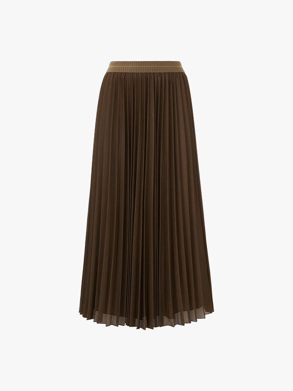 Dolcezza Pleated Midi Skirt