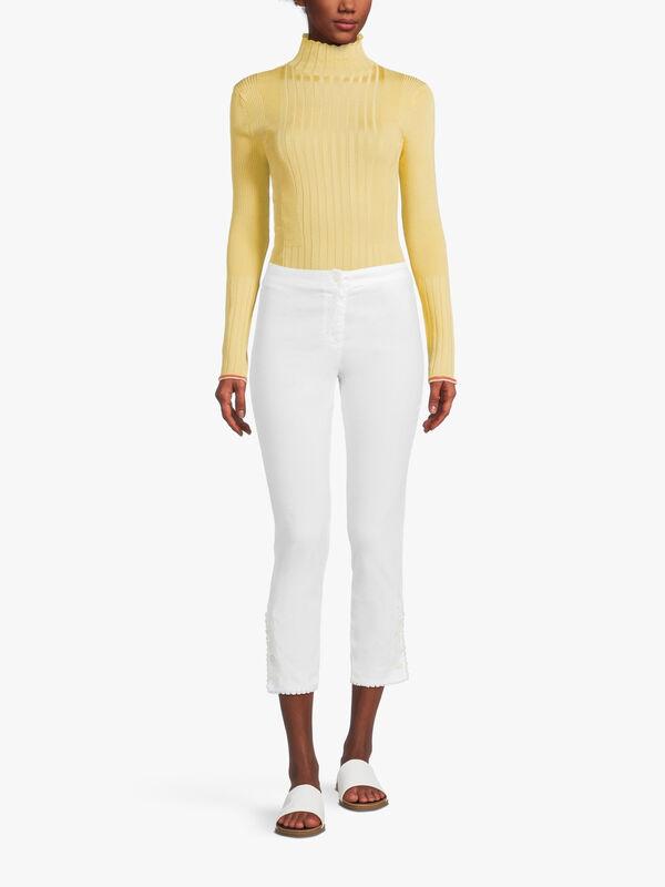 Slim Fit Linen Trouser