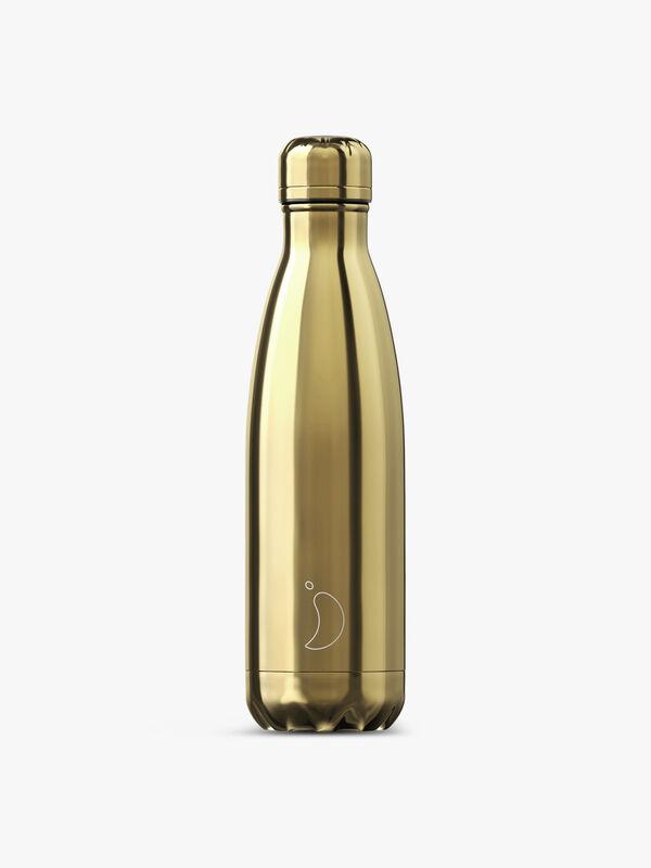 Chrome Gold Water Bottle 500ml
