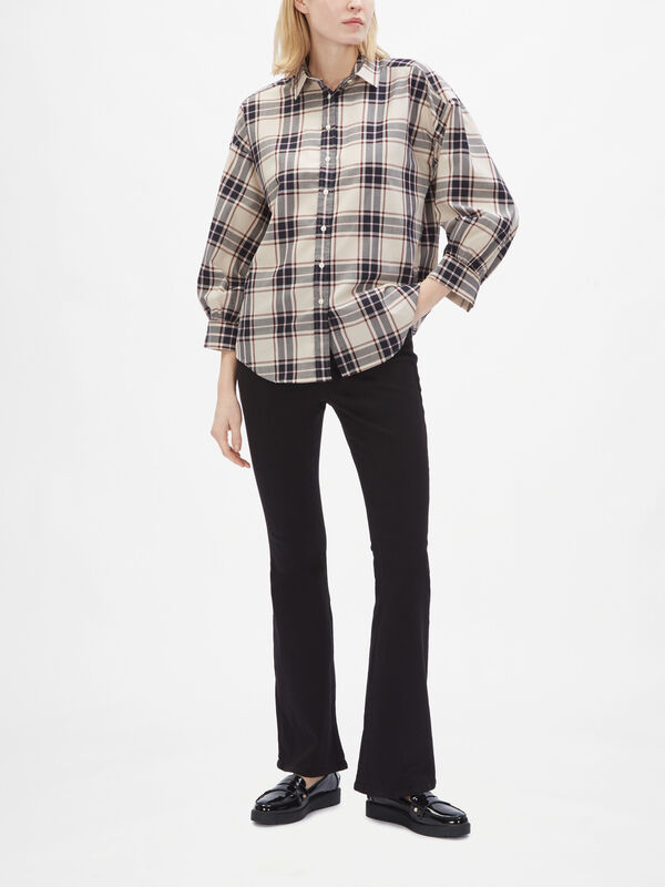 Oxford Plaid Oversized Shirt