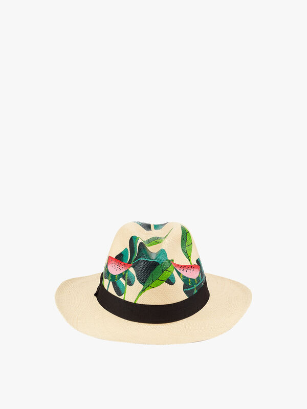 Watermelon and Leaf Hat