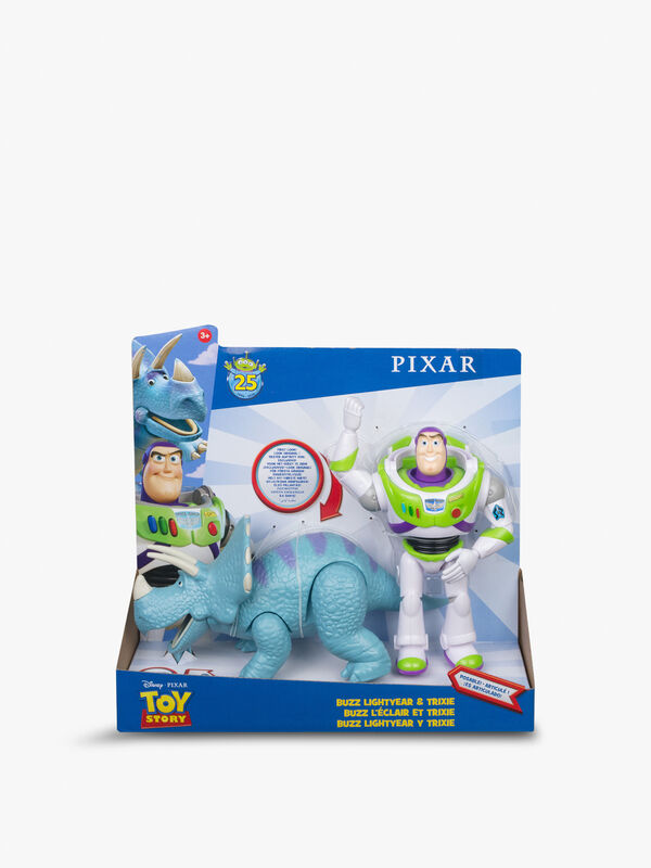 Pixar Buzz Lightyear and Trixie 2-Pack