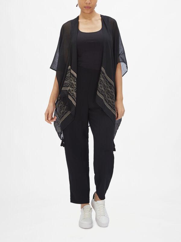 Tassle Embrodiered Kimono