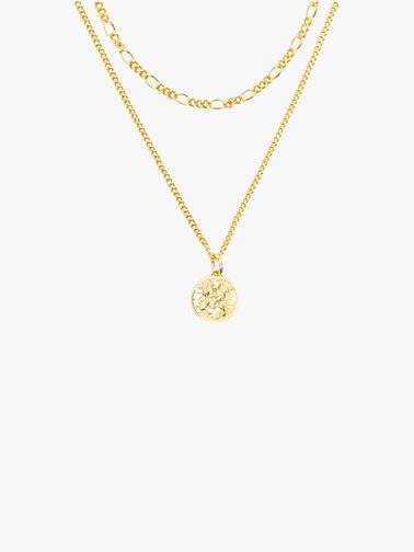 Gold Plated Silver St Christopher Multi ChainNecklace