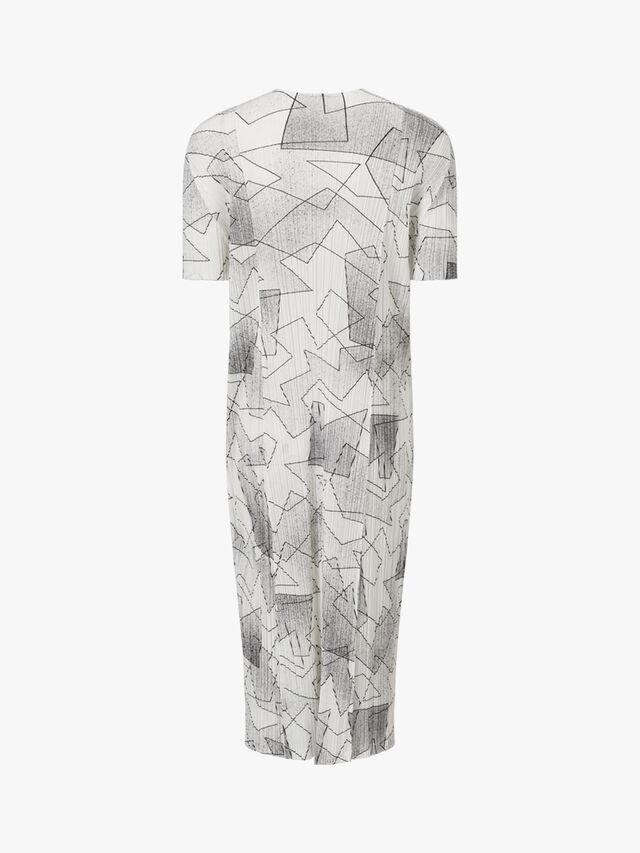 Cut Lines Short Sleeve Dress