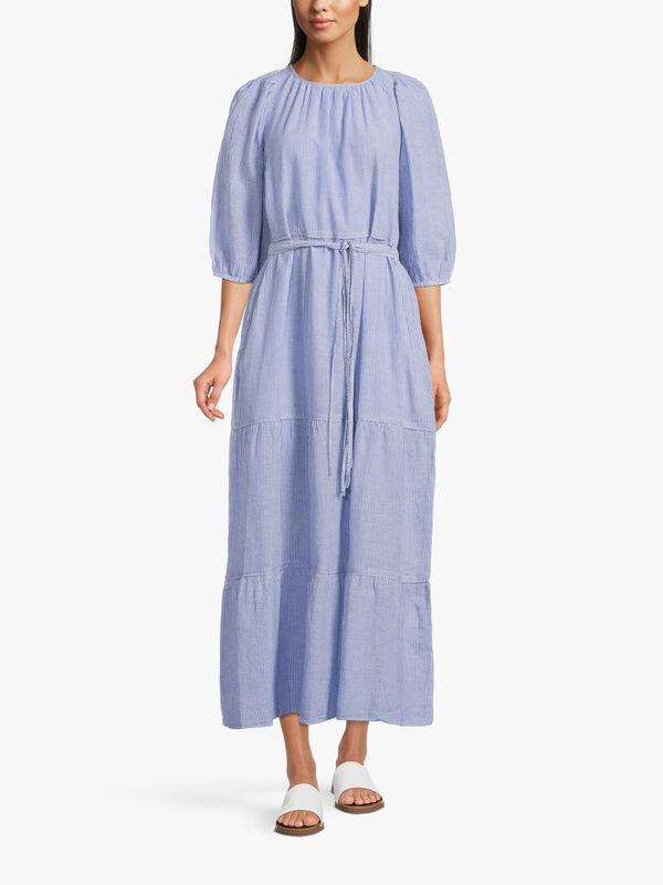 Reinilda Puff Sleeve Tiered Dress