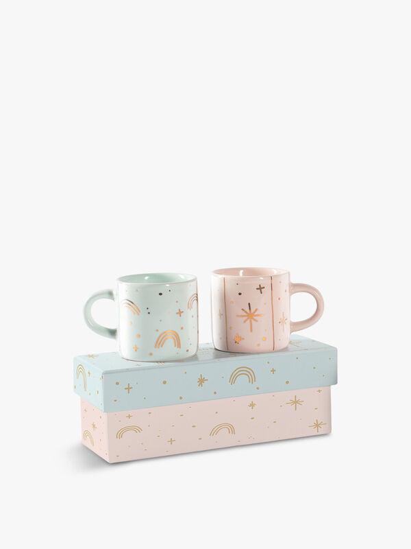 Rainbow & Star Mini Espresso Mug Set of 2