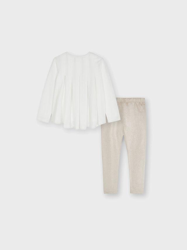 Tulle Skirt Girl & Suede Leggings Set