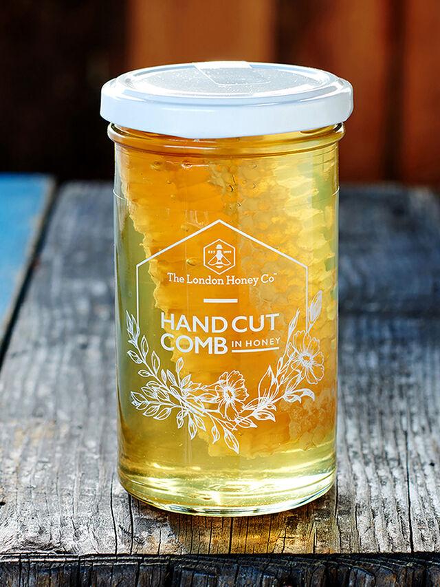 Hand Cut Comb in Honey Jar 350g
