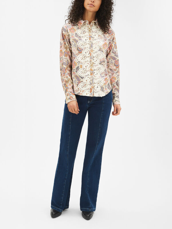 Lace and Floral Shirt