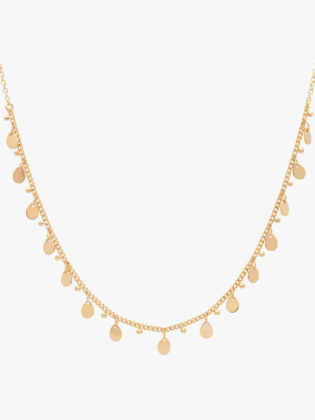 Drop Charms Choker Necklace