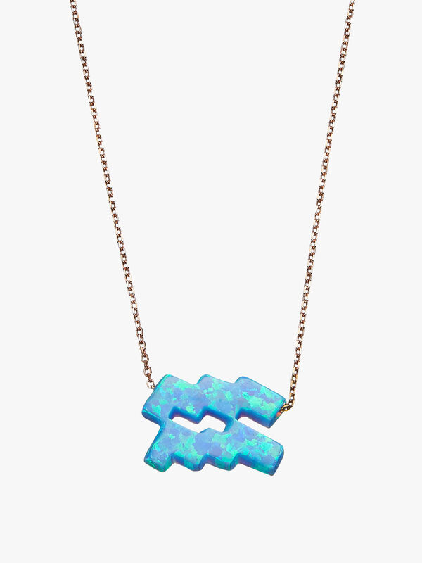 Aquarius Opal Zodiac Necklace