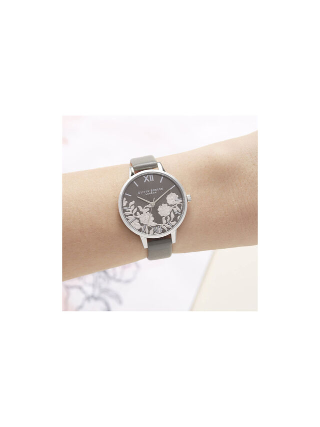 Lace Detail Sunray Demi Dial Watch