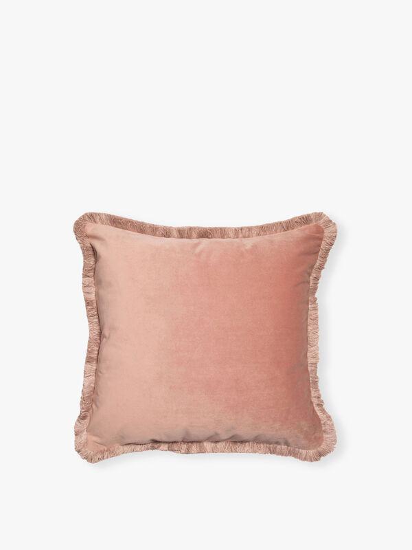 Velvet Fringed Cushion
