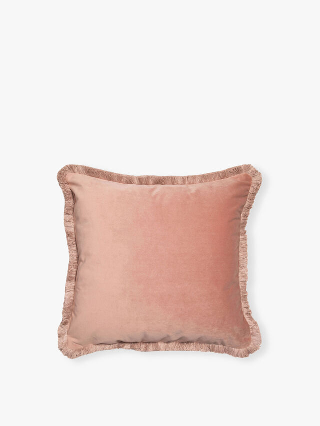 Velvet Fringed Cushion
