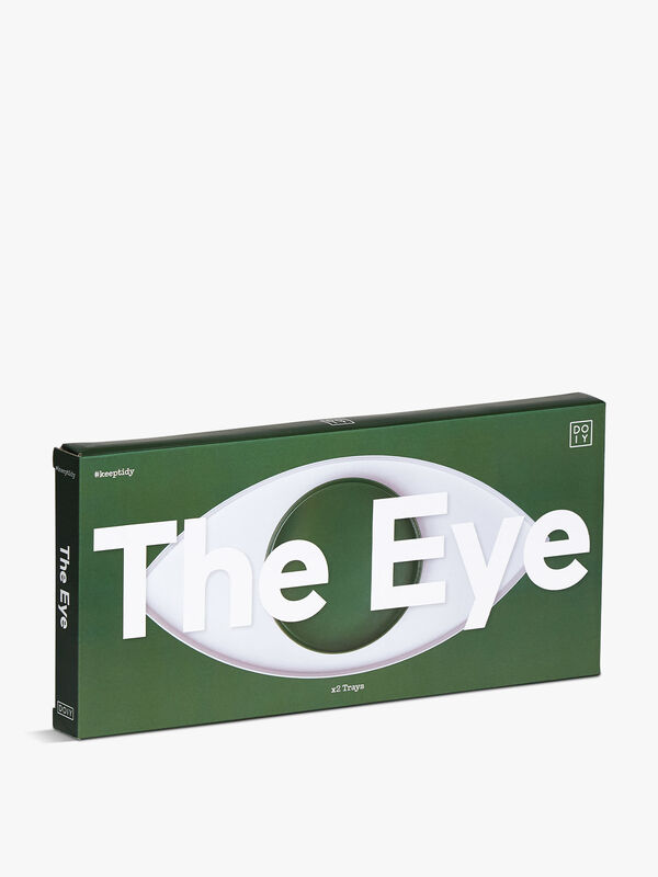 The Eye White and Green Tray