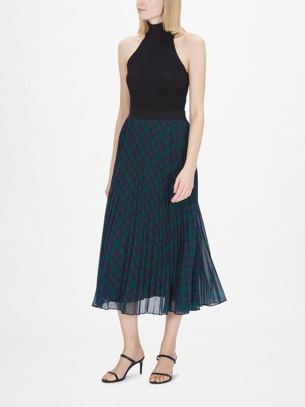 Icon Tartan Pleated Skirt