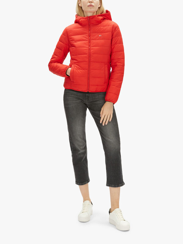 Hooded Quilted Zip Thru Jacket