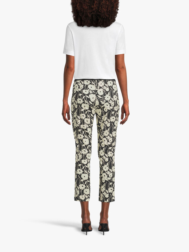 Flower Print Pull On Cotton Trouser