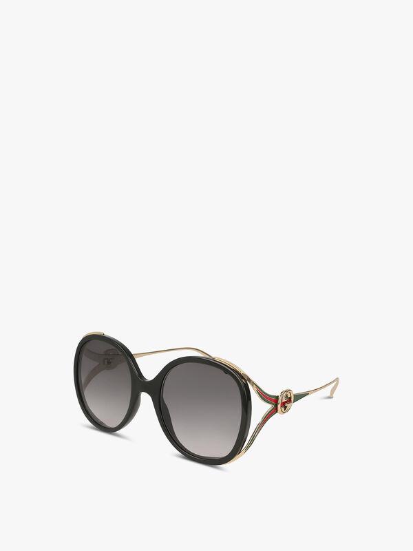 Oval Y-Temple Acetate Sunglasses