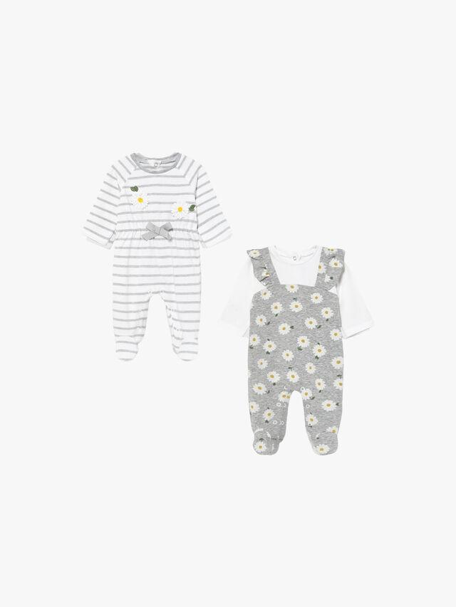 Daisy & Stripe Babygrow
