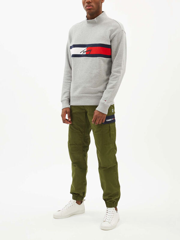 Jacquard Flag Panel Sweatshirt