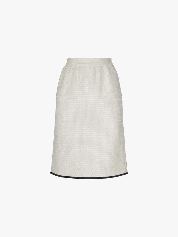 Boucle Knee Length Skirt