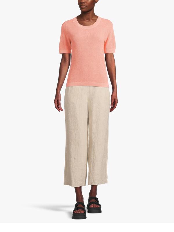 Short Sleeve Knitted T Shirt