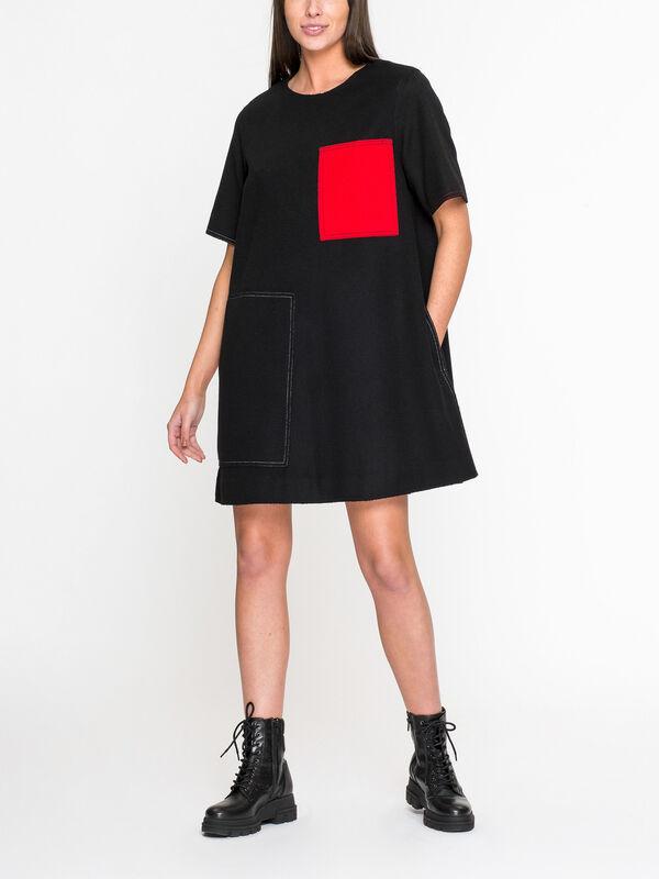 Patch Pocket Wool Dress