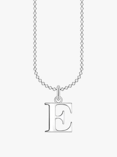 E Letters Pendant Necklace
