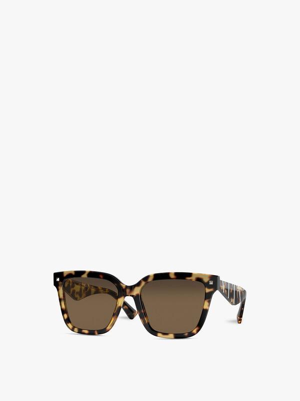 Logo Arm Squared Acetate Sunglasses