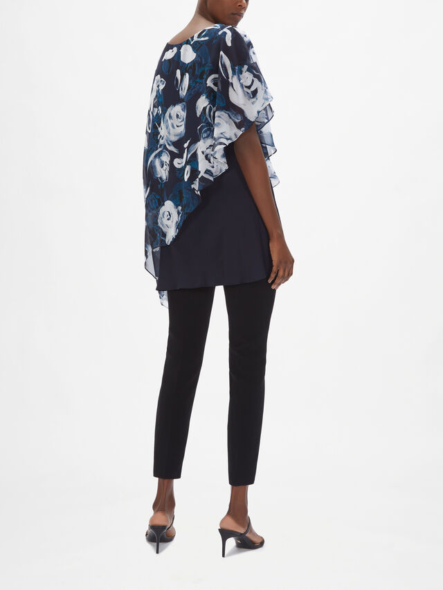 Smudge Floral Overlay Top