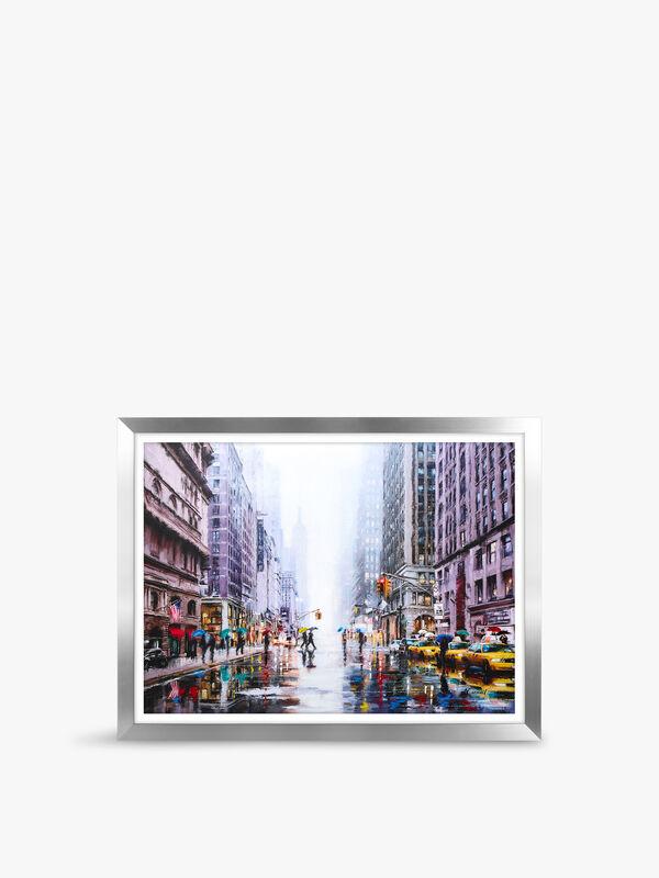 Rainfall On 5th Avenue Framed Print MP5019W