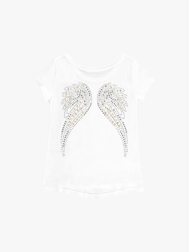 Short Sleeve Wing Back Top