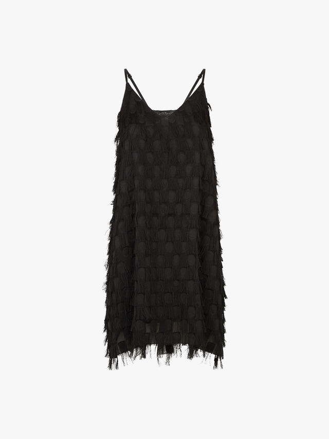 Fringe Detail Mini Dress