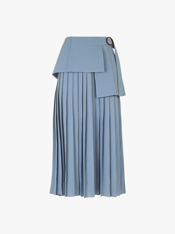 Side Tie Pleat Skirt