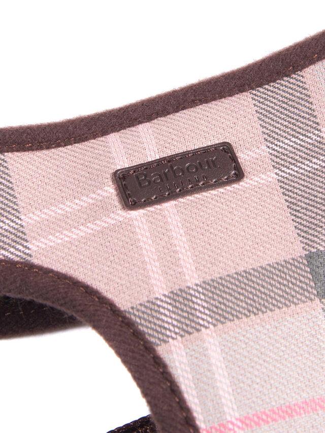 Tartan Dog Harness Taupe/ Pink Tartan Large