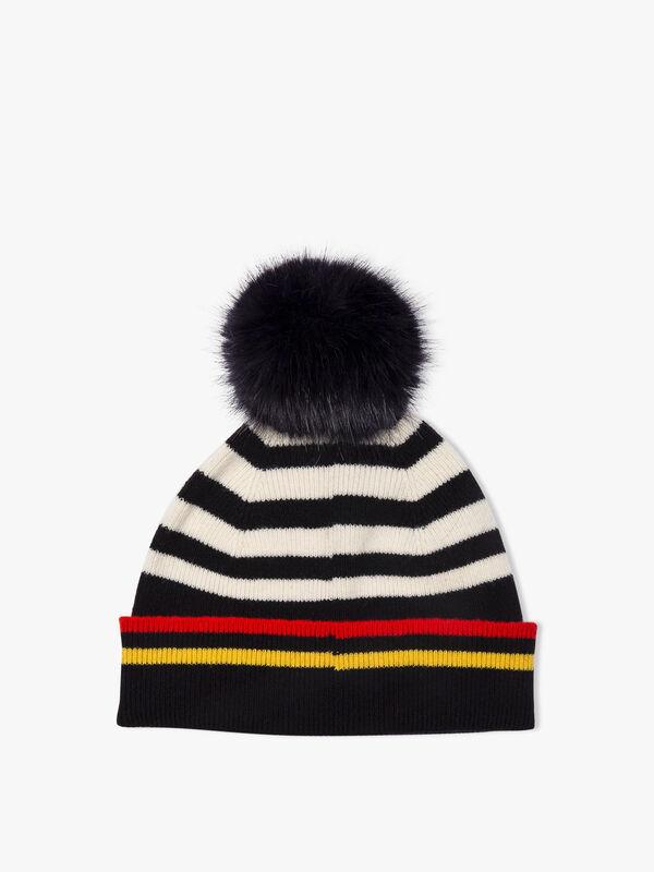 Pom Pom Stripe Hat