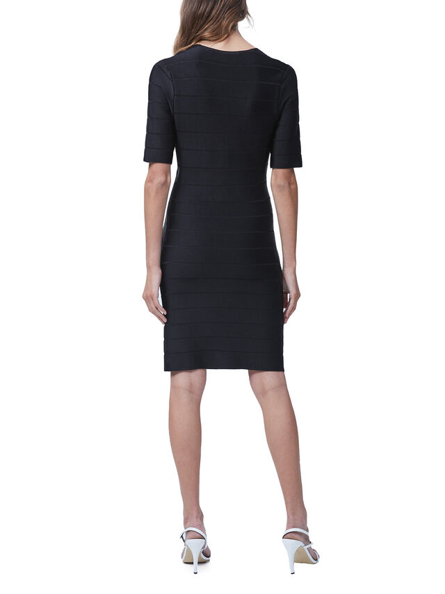 Zasha Spotlight V-Neck Bodycon Dress