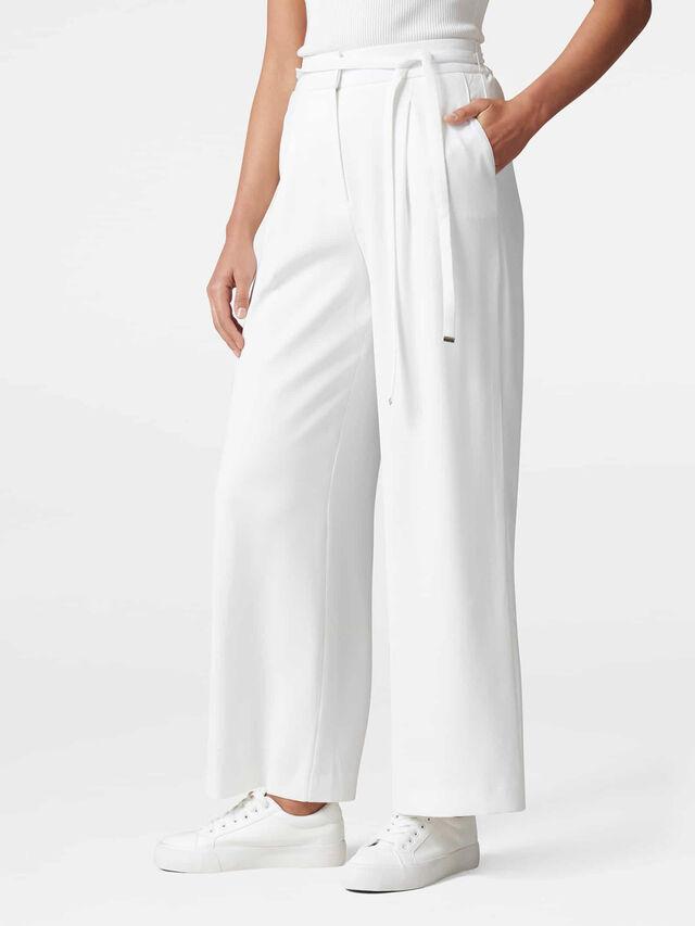 Isabella Skinny Belt Wide Leg Pants