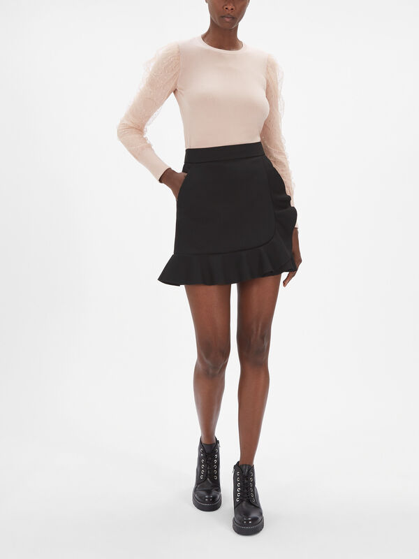 Ruffle Cross Skirt