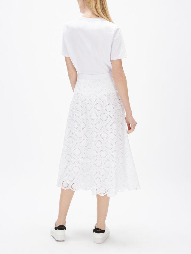 Floral Eyelet Long Skirt