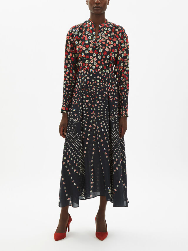 Ditsy Printed Midi Dress