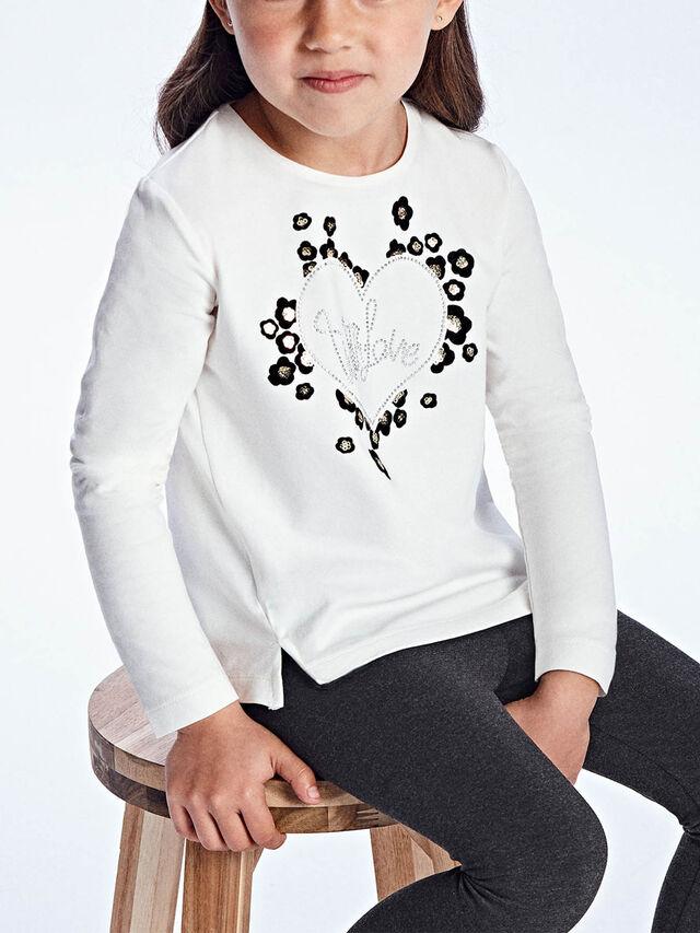 Hearts l/s flock t-shirt