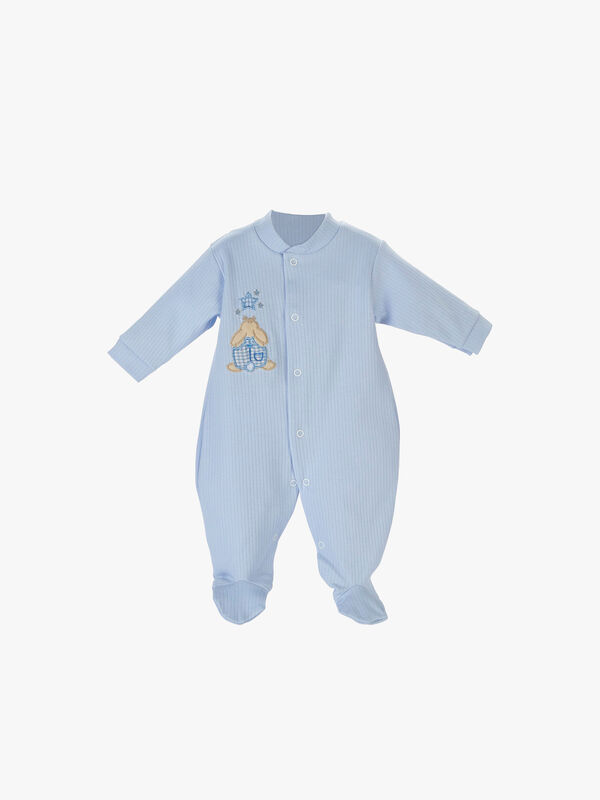 Cotton Ribbed Sleepsuit