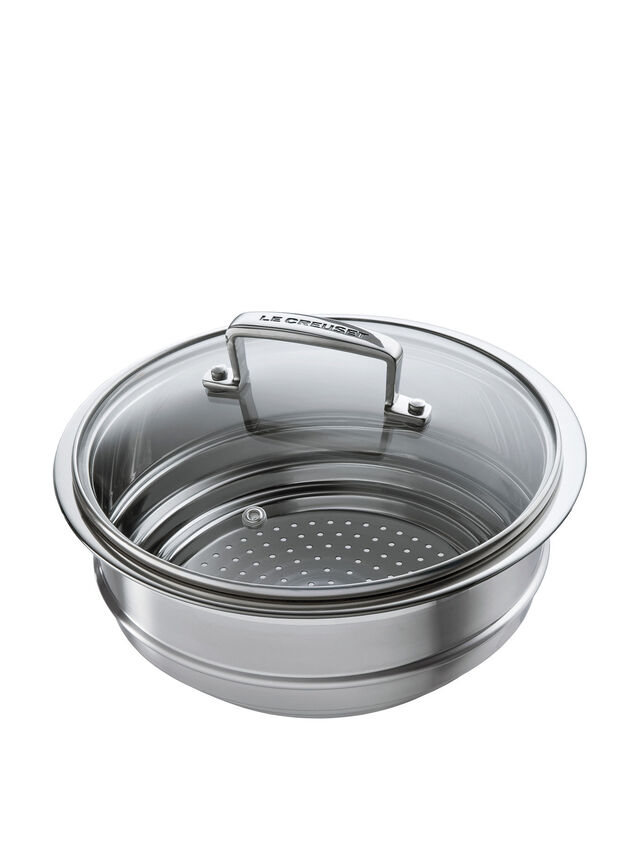Multi Steamer With Glass Lid For 3-ply