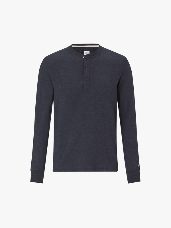Long Sleeve Classic Henley Top