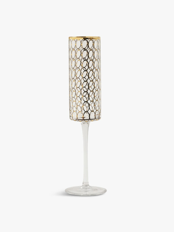 Nordal Clear Champagne Glass