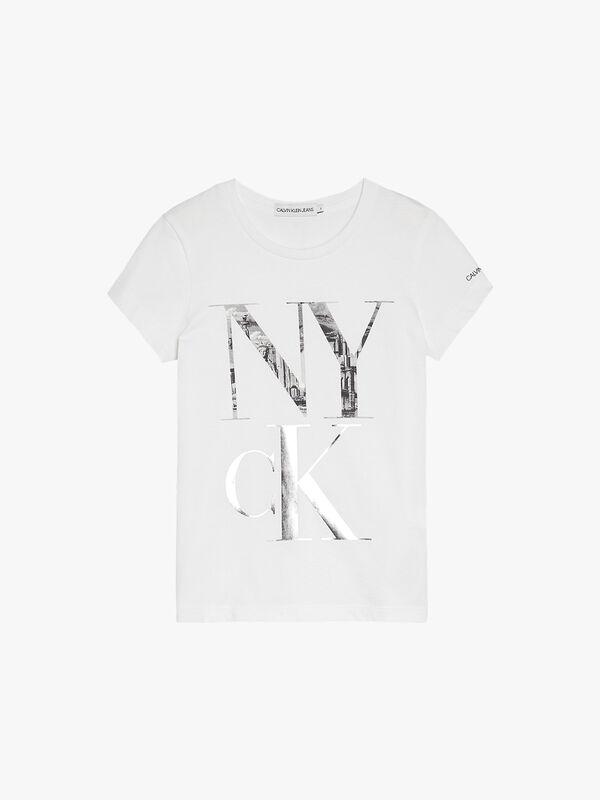 NY CK Print Slim T-Shirt